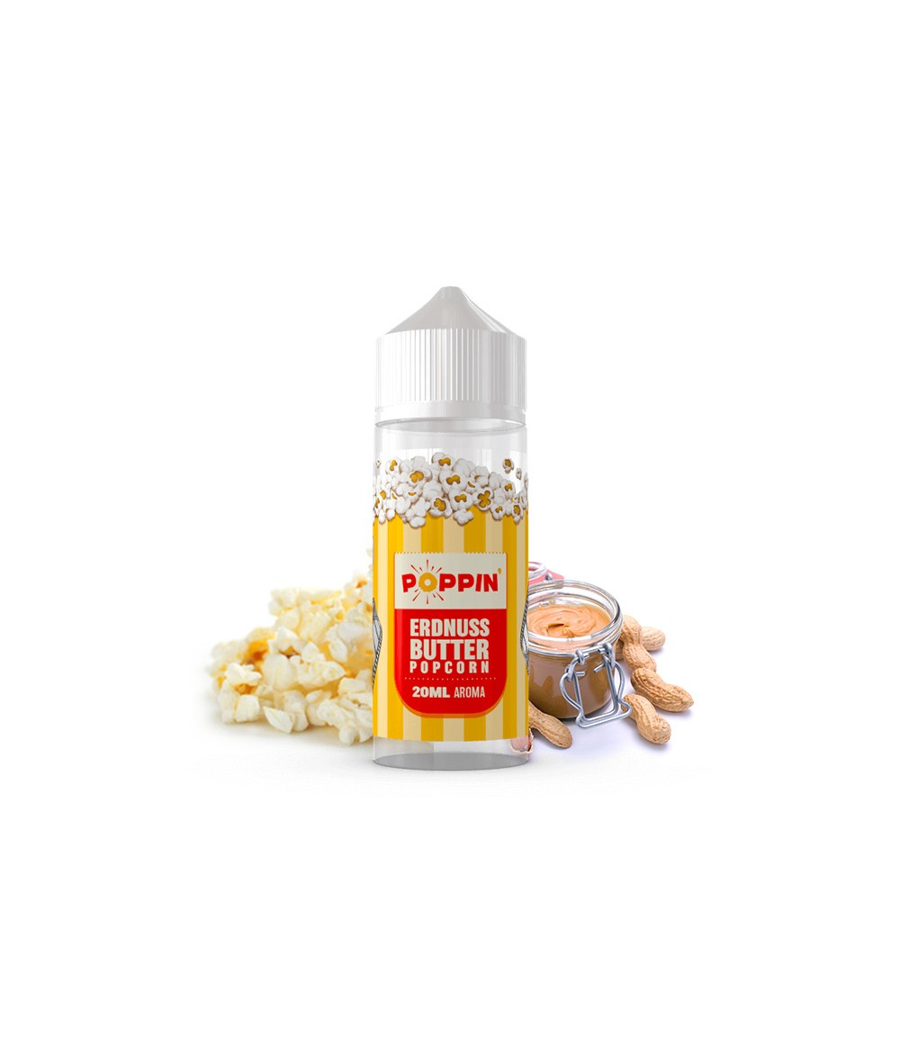 POPPIN Erdnussbutter Popcorn Aroma 20 ml in 120 ml Flasche Shake and Vape