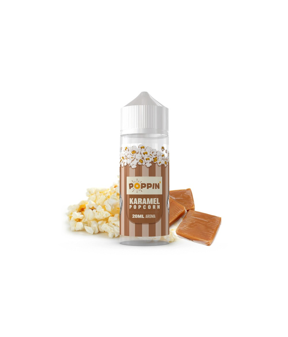 POPPIN Karamell Popcorn Aroma 20 ml in 120 ml Flasche Shake and Vape
