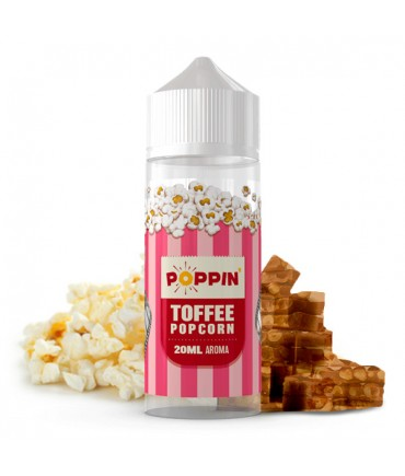 POPPIN Toffee Popcorn Aroma 20 ml in 120 ml Flasche Shake and Vape