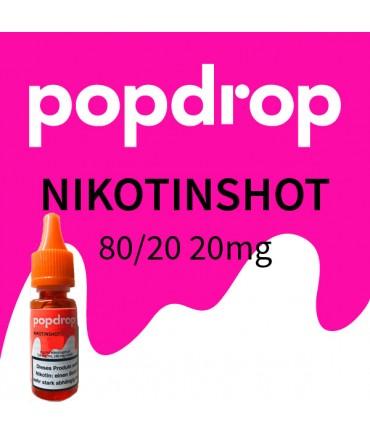 Popdrop Nikotinshot 80 VG/20 PG mit 20mg Nikotin