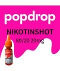 Popdrop Nikotinshot 80VG/20PG mit 20mg Nikotin