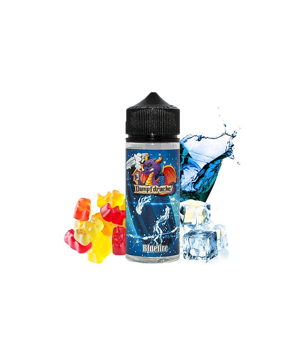 Dampfdrache Bluefirer Aroma 20ml in 120 ml Flasche Shake and Vape