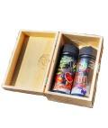 Lädla Juice Volle Fresse Lolliii Holz Box Edition Kirsche und Himbeere Aroma 20 ml in 120 ml Flasche Shake and Vape