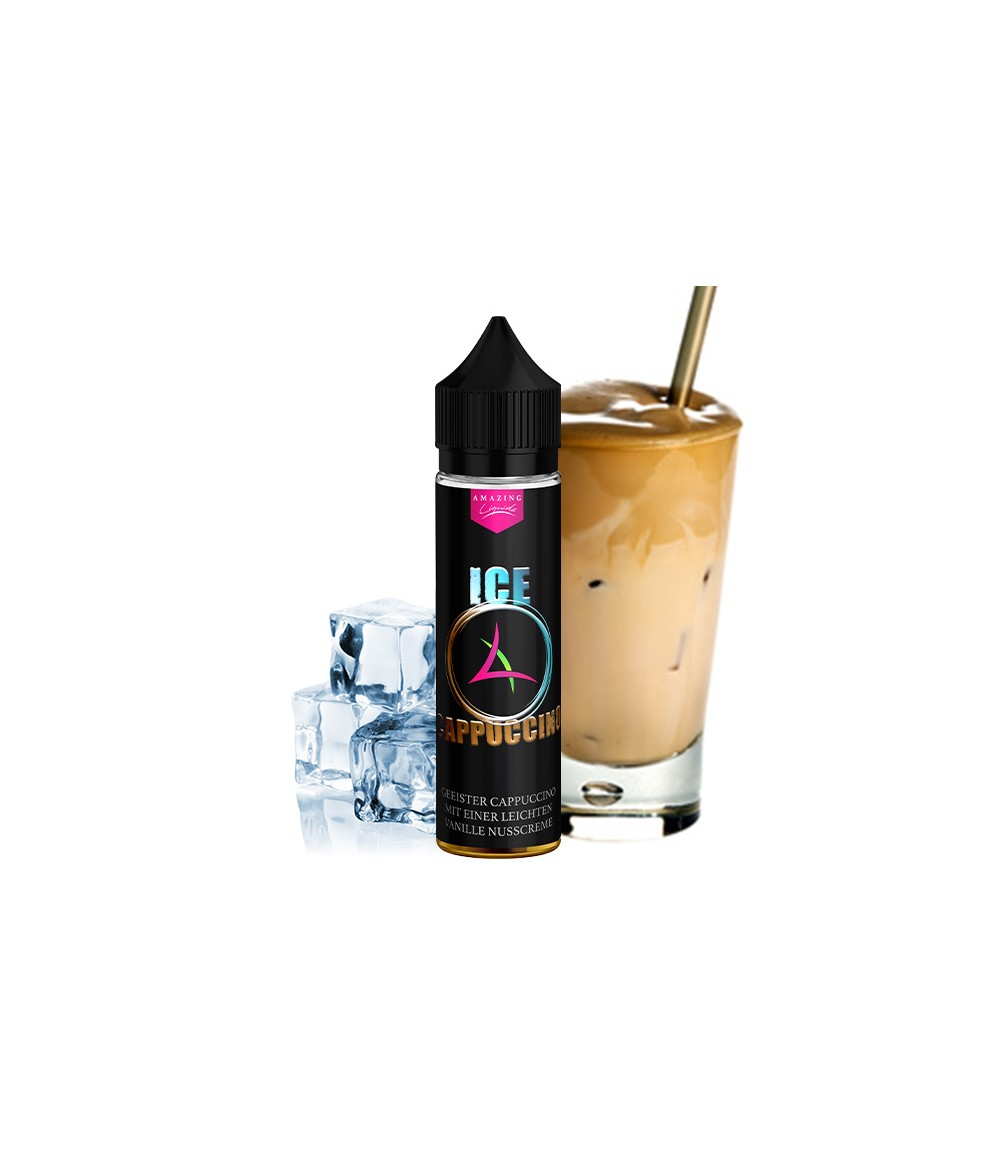 Amazing Liquid Ice Cappuccino Aroma 10 ml in 60 ml Flasche Shake and Vape