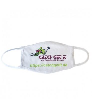 Catch Get It Gesichtsmaske Schutzmaske Stoffmaske weiß