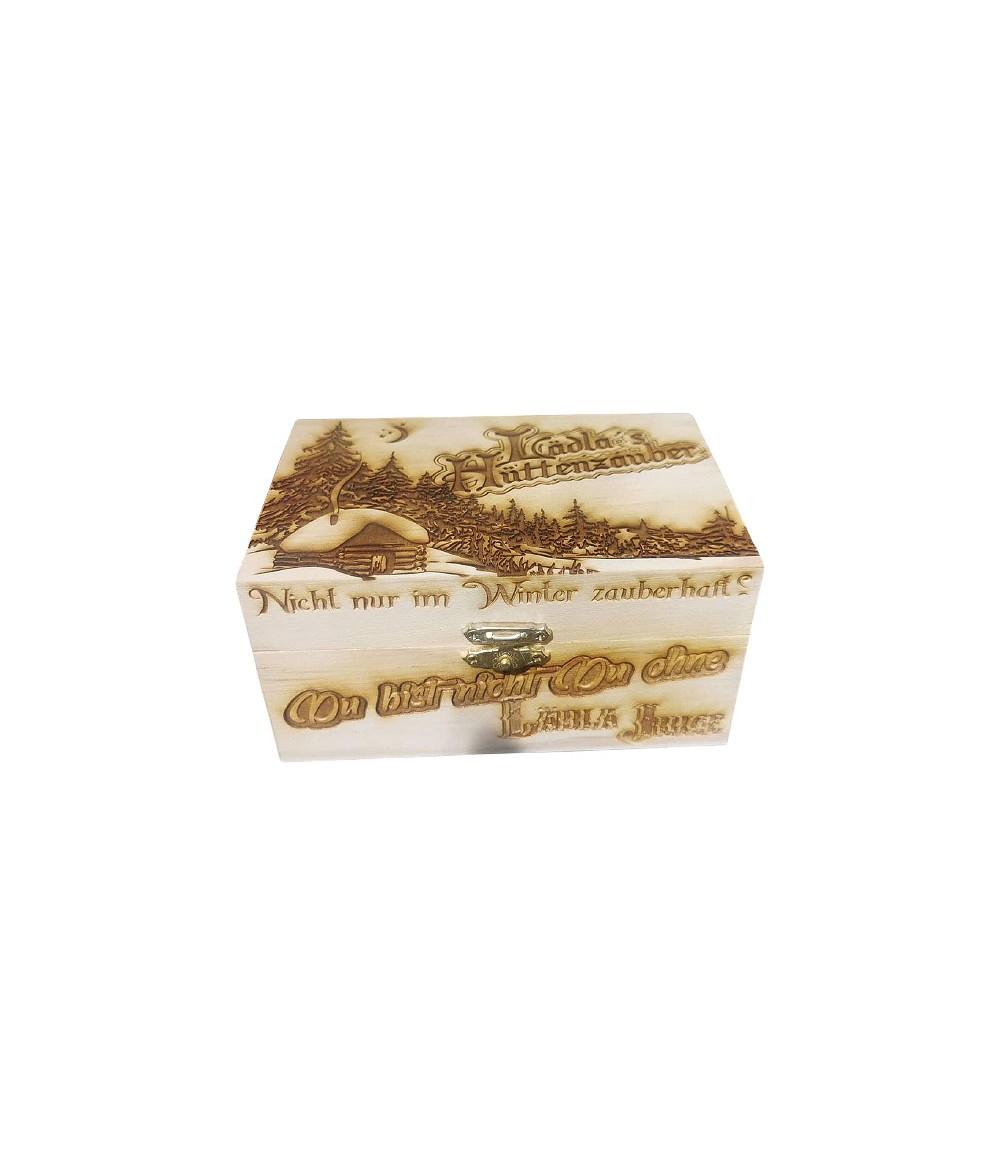 Lädla Juice Lädla's Hüttenzauber Box mit 2 Aromen zur Wahl je 20 ml in 120 ml Flasche Shake and Vape - Holz Box
