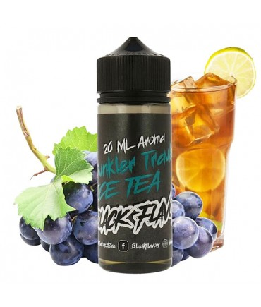 Black Flavors Dunkler Trauben Ice Tea Aroma 20 ml in 120 ml Flasche Shake and Vape