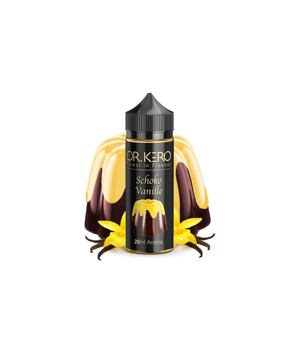 Dr. Kero Schoko Vanille Aroma 18 ml in 120 ml Flasche Shake and Vape