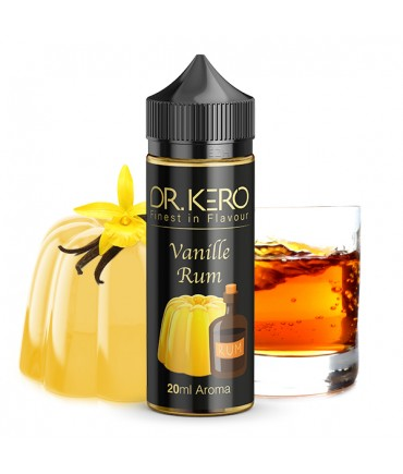 Dr. Kero Vanille Rum Aroma 20 ml in 120 ml Flasche Shake and Vape