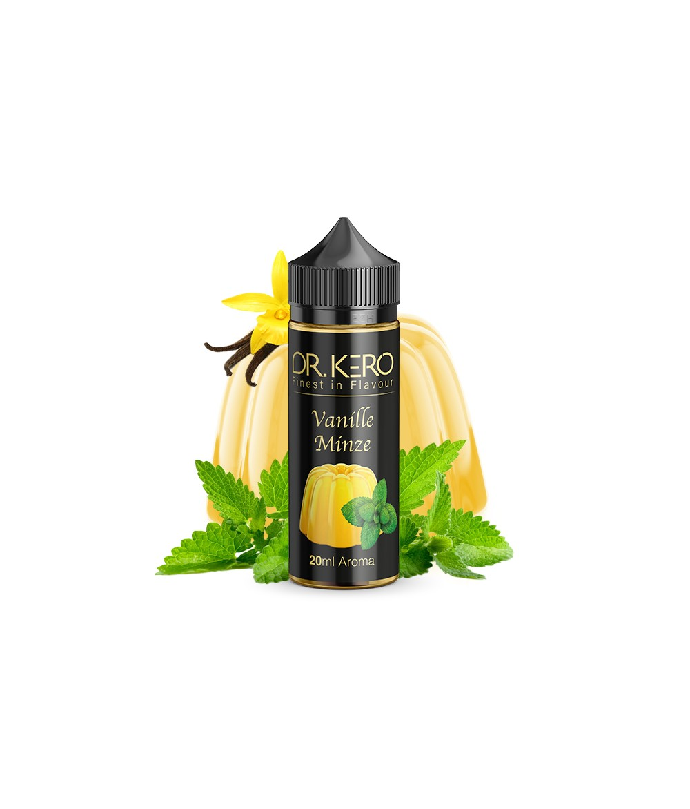 Dr. Kero Vanille Minze Aroma 18 ml in 120 ml Flasche Shake and Vape