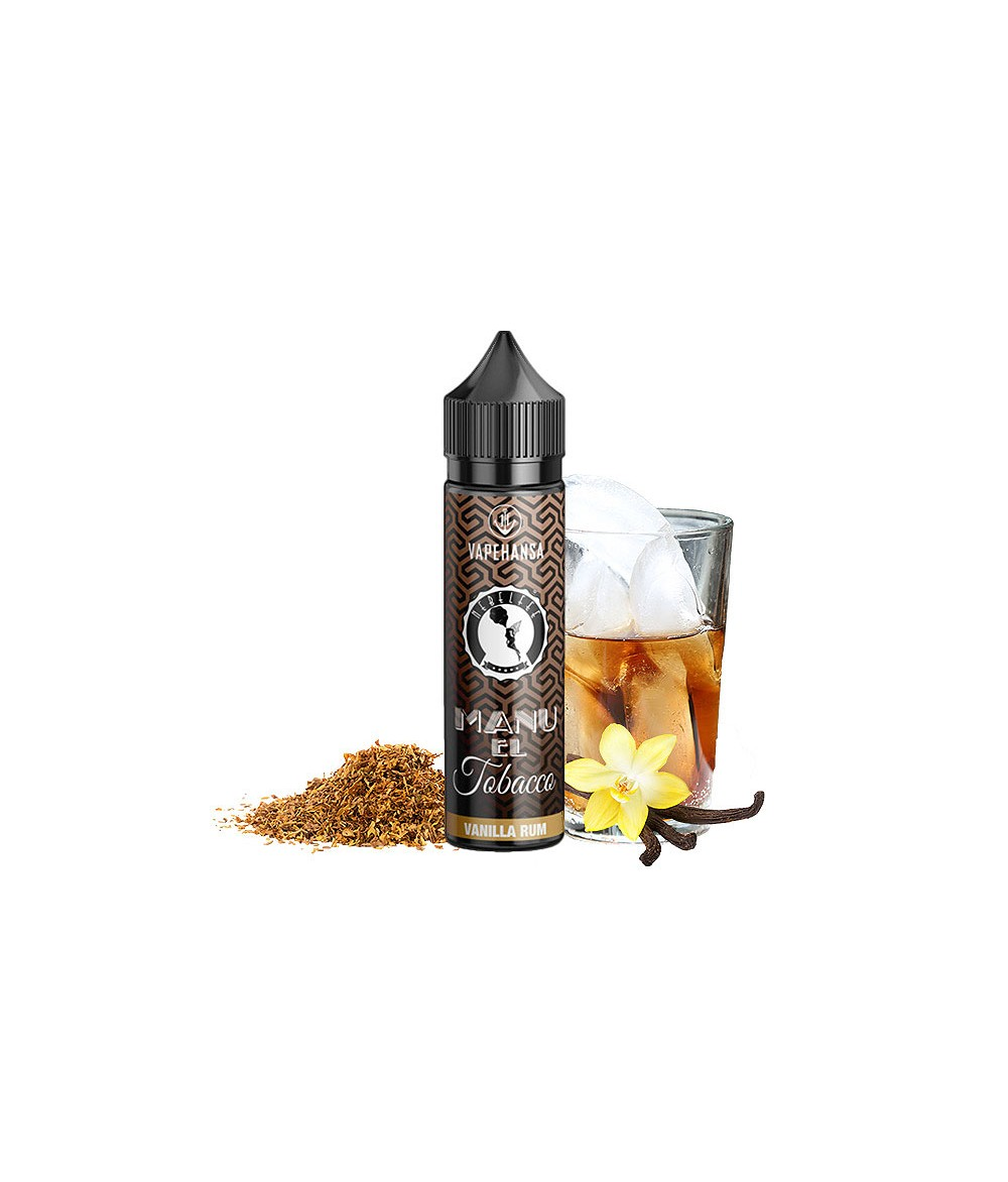 Nebelfee Manu El Tobacco Vanilla Rum Aroma 10 ml in 60 ml Flasche Shake and Vape