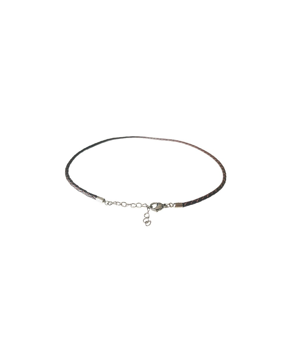 Catch Get It Lifestyle series braid barcelet Fox Braid red brown necklace stainless steel
