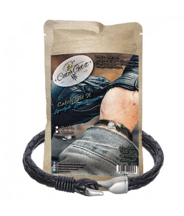 Catch Get It Lifestyle Series leather bracelet Black Hook black stainless steel hook