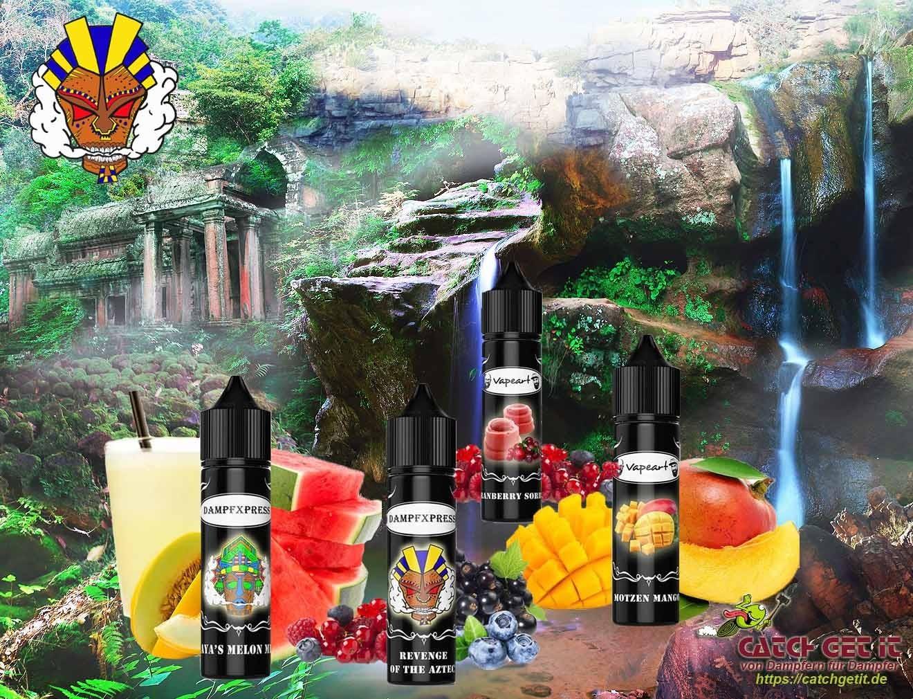 Dampfxpress Premium Liquid / Shortfill - In den Fußstapfen der Azteken