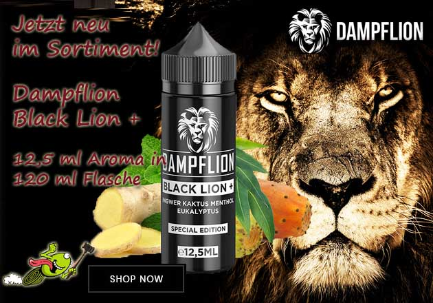 Dampflion Black Lion Plus Aroma 12,5 ml in 120 ml Flasche Shake and Vape