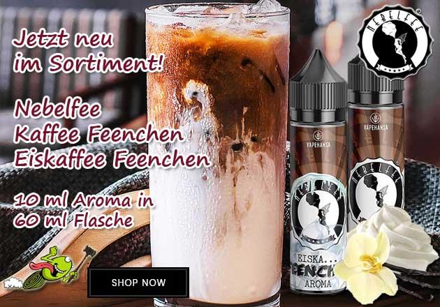 Nebelfee Kaffee und Eiskaffee Feenchen Aroma 10 ml in 60 ml Flasche Shake and Vape