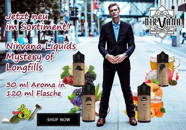 Nirvana Liquids Mystery of Longfill Aromen Seriel