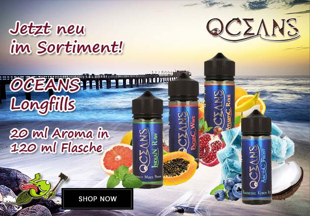 OCEANS Aroma 20 ml in 120 ml Flasche Shake and Vape