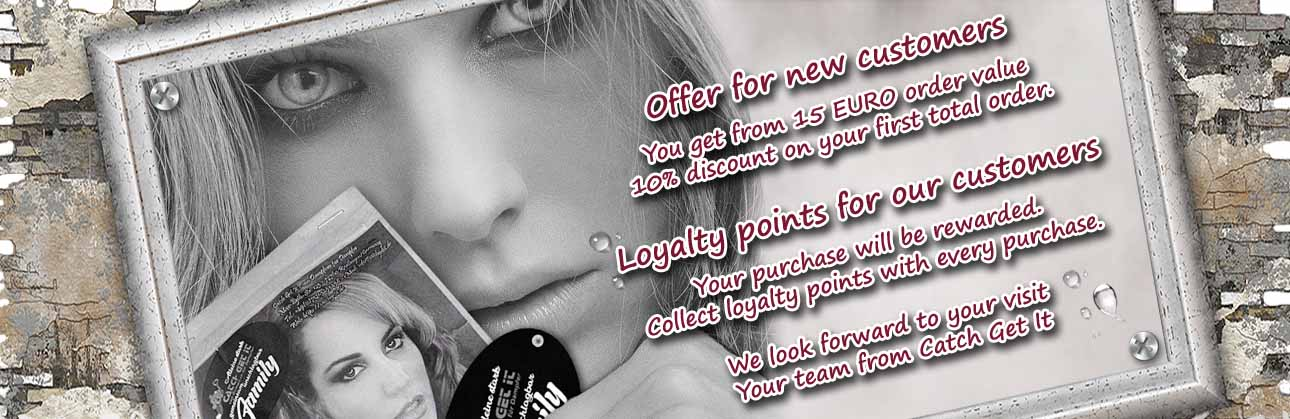 Catch Get It - von Dampfern für Dampfer - the online shop for e-cigarettes - New customer discount - 10% discount from 15 EUR on your first total order -  Loyalty points for our customers